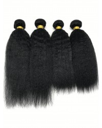 Brazilian virgin kinky straight 4 bundles wefts