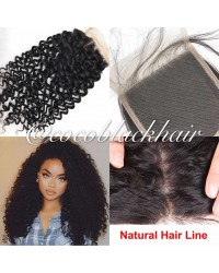 Brazilian virgin curly 4x4 lace closure