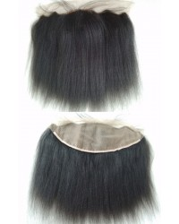 Indian remy Italian yaki 13x4 silk top lace frontal