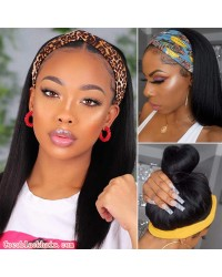 Rudy 03-Headband wigs light yaki Brazilian virgin human hair 150% density