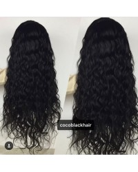 Emily23- Brazilian virgin big deep wave 360 lace frontal wig
