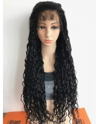 SP002-Brazilian virgin loose deep curly pre plucked full lace wig