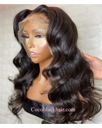 Nova 08-Loose wave Brazilian virgin 13x6 wig glueless lace front Pre plucked hairline
