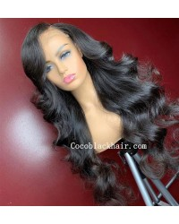 Angela 04-5x5 HD lace closure wig Loose Wave 10A grade Brazilian virgin human hair 150% density