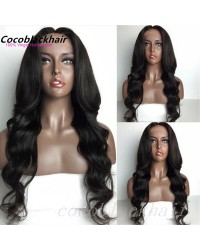 Margo- Brazilian virgin loose ocean wave middle part full lace wig