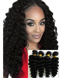 Malaysian virgin 4 bundles deep wave hair weaves