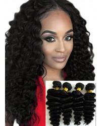Malaysian virgin 4 bundles deep wave hair weaves