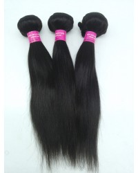 Malaysian virgin 3 bundles silky straight hair weaves
