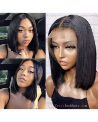 Marla-Middle parting bob Pre plucked 13x6 glueless lace front wig Brazilian virgin hair