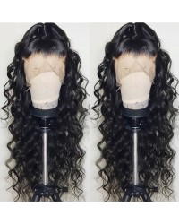 Mavis-Brazilian virgin pre plucked beachy wave full lace wig