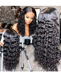 【50% Off】Jody15-middle parting curly 370 wig pre plucked Brazilian virgin human hair