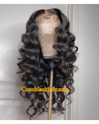Angela 25-5x5 HD lace closure wig natural wave 10A grade Brazilian virgin human hair pre plucked hairline