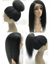 Mona- Brazilian virgin Italian yaki full lace silk top wig