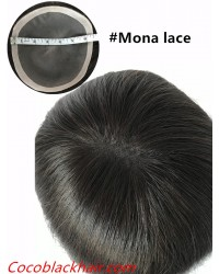 7inchesx6.5inches Mona lace topper hair pieces-PU around[TP11]