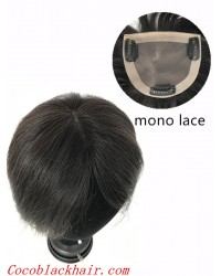 5inchesx5.5inches Clips in Mona lace base topper hair pieces-PU around[TP07]
