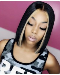 BOB05-Brazilian virgin halloween bob glueless lace front wig