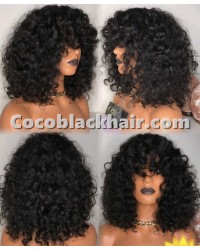 Emily51-Pre plucked Brazilian virgin natural curls 360 wig
