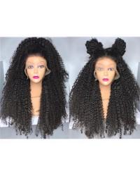 Emily- Brazilian virgin natural kinky 360 lace frontal wig