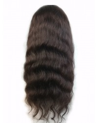 Jean-Malaysian virgin natural wave full lace wig