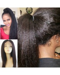 Nydia-Brazilian virgin kinky straight full lace wig