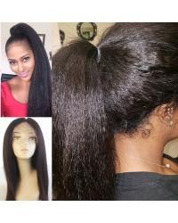 Nydia- Brazilian virgin kinky straight full lace wig