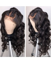 Emily07-Brazilian virgin ocean wave 360 frontal wig