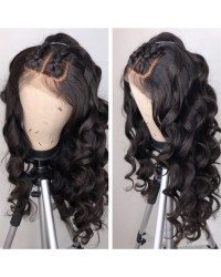 Tela-Brazilian virgin pre plucked ocean wave full lace wig