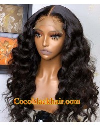 【50% Off】Angela 20-5x5 HD lace closure wig Ocean wave Brazilian virgin human hair Pre plucked hairline
