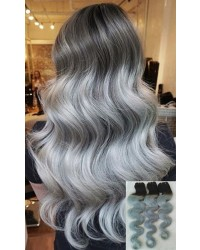 1B / Grey Ombre Body Wave Brazilian Hair Weaves 3 units