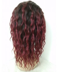 Janet-Brazilian virgin Ombre Natural / 99J Full Lace wig