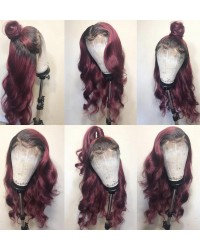 Jacole-Brazilian virgin ombre wave pre plucked full lace wig