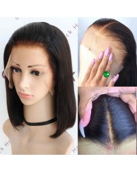 Rose-Pre plucked fake scalp 150% density glueless lace front wig