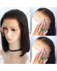 Vivi-Pre made fake scalp 150% density glueless lace front wig