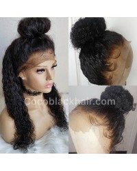 Alisa-Brazilian virgin pre plucked wet wave full lace wig