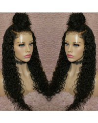 Faith-Brazilian virgin pre plucked water wave full lace wig