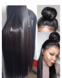 Rita-Brazilian virgin Natural straight full lace wig