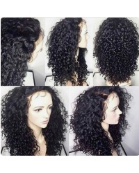 Rolita-Brazilian virgin curly wave full lace wig