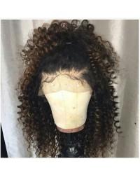 Sarah-Brazilian virgin Afro Curl Full Lace Wig