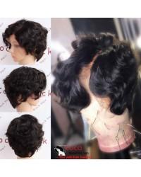 Carol-Indian virgin short cut summer hair glueless lace front wig