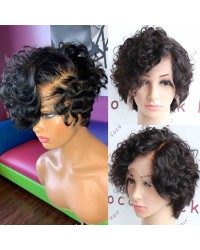 Carol-Indian virgin short cut summer hair 13x6 glueless lace front wig