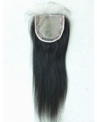 Human hair silk base top closure--5x5 lace