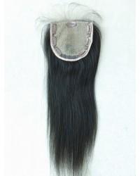 Human hair silk base top closure--5x5 lace