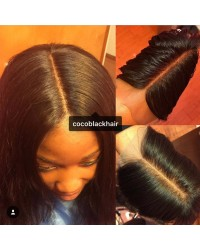 Brazilian virgin yaki straight 4x4 lace closure