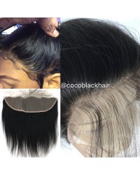 Brazilian virgin silky straight lace frontal