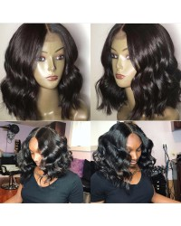 Emily17- Brazilian virgin silky wave 360 bob wig