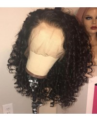 Emily48-pre plucked Brazilian small curly 360 wig