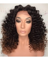 Emily27-Brazilian virgin Spanish curl 360 wig