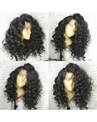 Emily20-Brazilian virgin Spanish wave 360 lace frontal wig