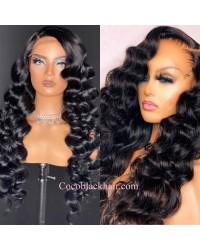 Nova 10-Spanish wave Brazilian virgin 13x6 wig glueless lace front Pre plucked hairline