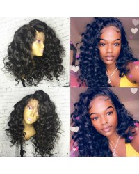 Emily20-Brazilian virgin Spanish wave 360 wig